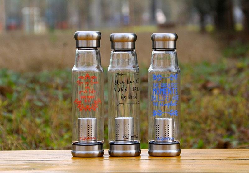 bottiglia acqua detox in vetro