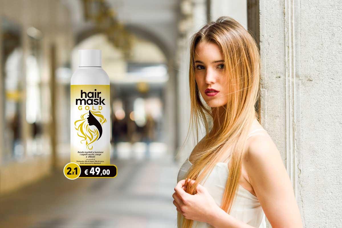 hair gold mask maschera