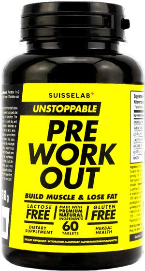 integratore unstoppable pre workout