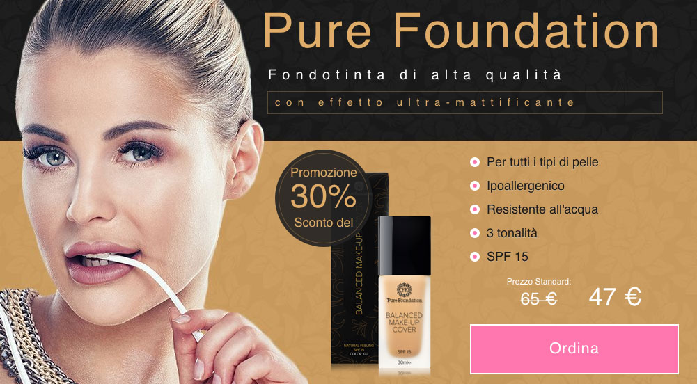 Pure Foundation fondotinta opinioni