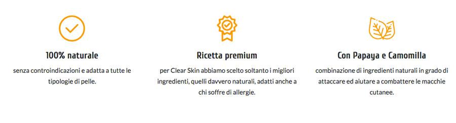clear skin crema schiarente