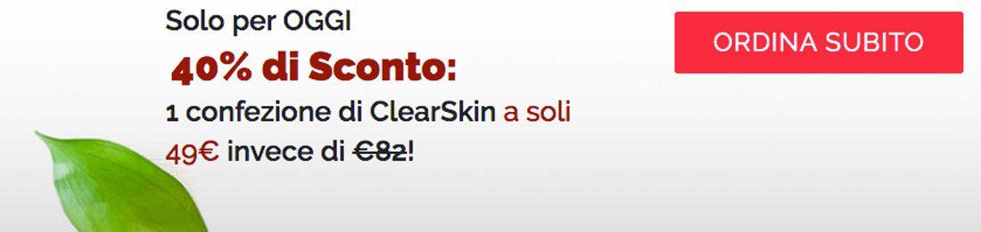 clear skin offerta